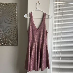 Urban Outfitters Pink Metallic Party Dress